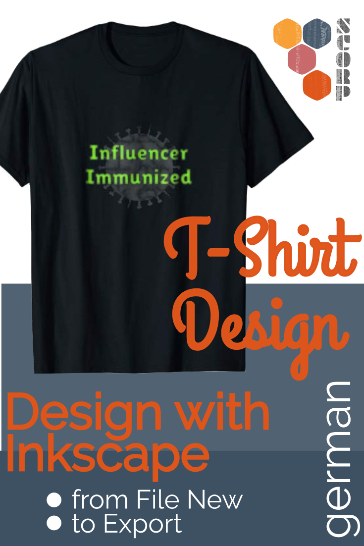 T-Shirt Design mit Inkscape