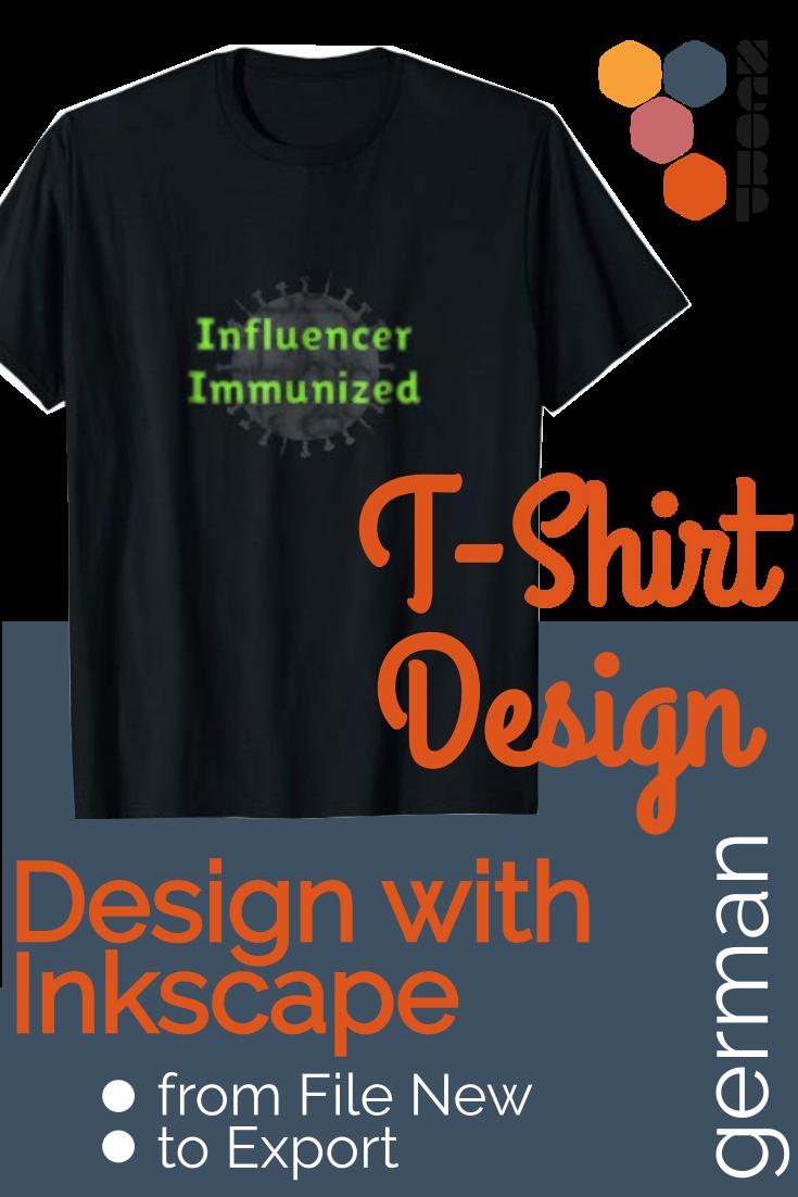 T-Shirt Design mit Inkscape